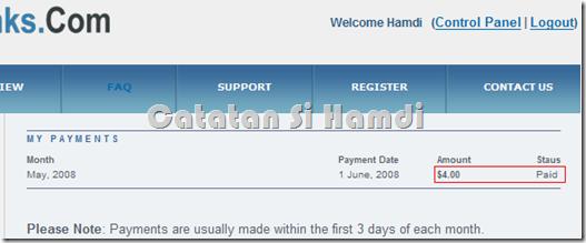 Bukti pembayaran Backlinks.com